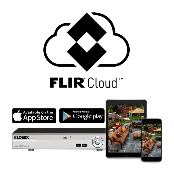 FLIR Cloud connectivity enables you to access your surveillance system from anywhere in the world