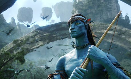 "A still from James Cameron's Avatar, celebrated as a ""game changer"" for the unprecedented scope of its computer-generated effects."