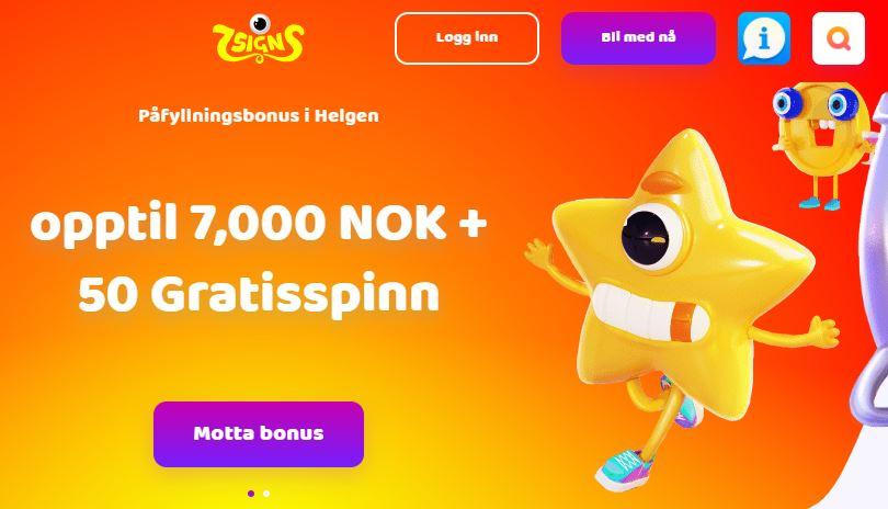 7Signs Casino bonus