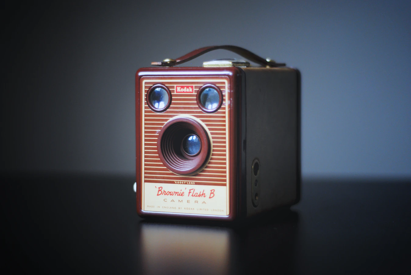 Uma câmera Brownie da Kodak