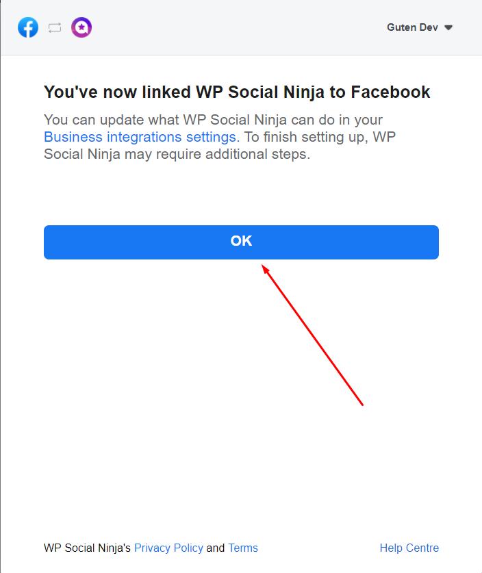 Facebook reviews linked with WP Social Ninja