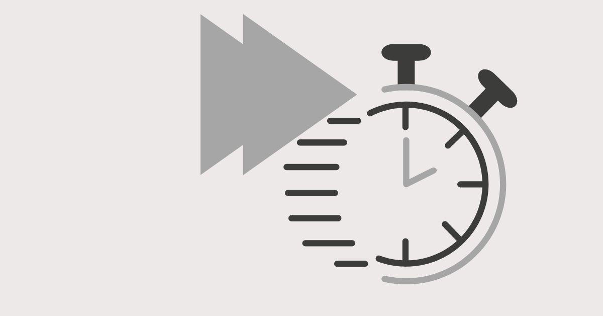 Press forward symbol on a running timer.