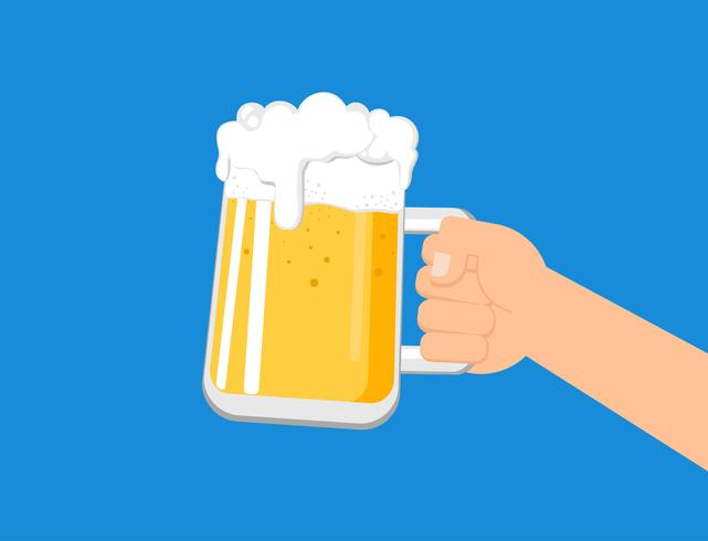 Animated hand holding beer jug