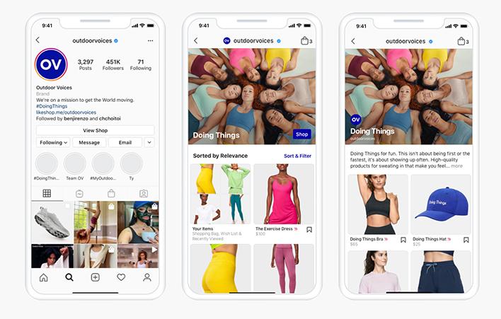 Instagram Shops image example