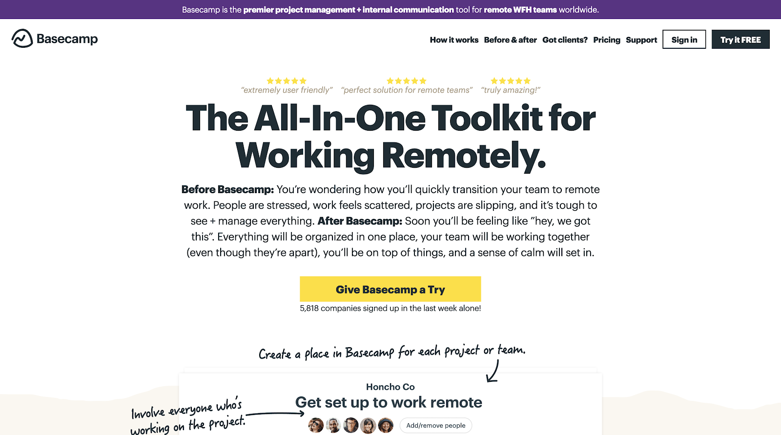 Basecamp - The All-In-One Toolkit for Working Remotely
