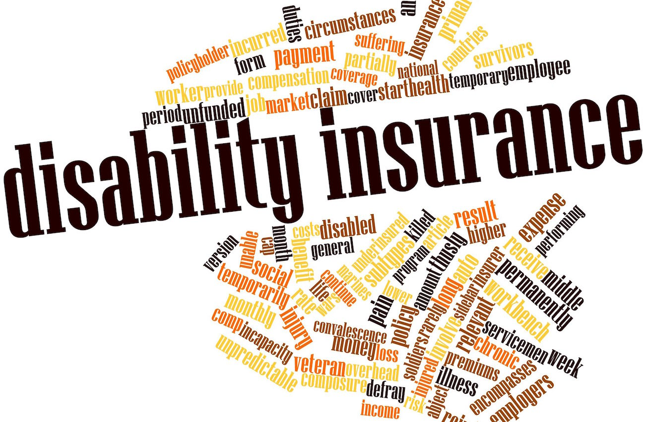 Disability insurance word cloud