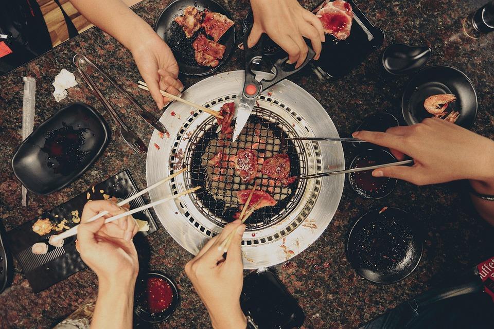 Teman Teman, Makanan, Makan, Keluarga, Panggangan