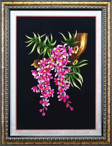 Tranh thêu hoa lan và ý nghĩa đặc biệt trong phong thủy 6
