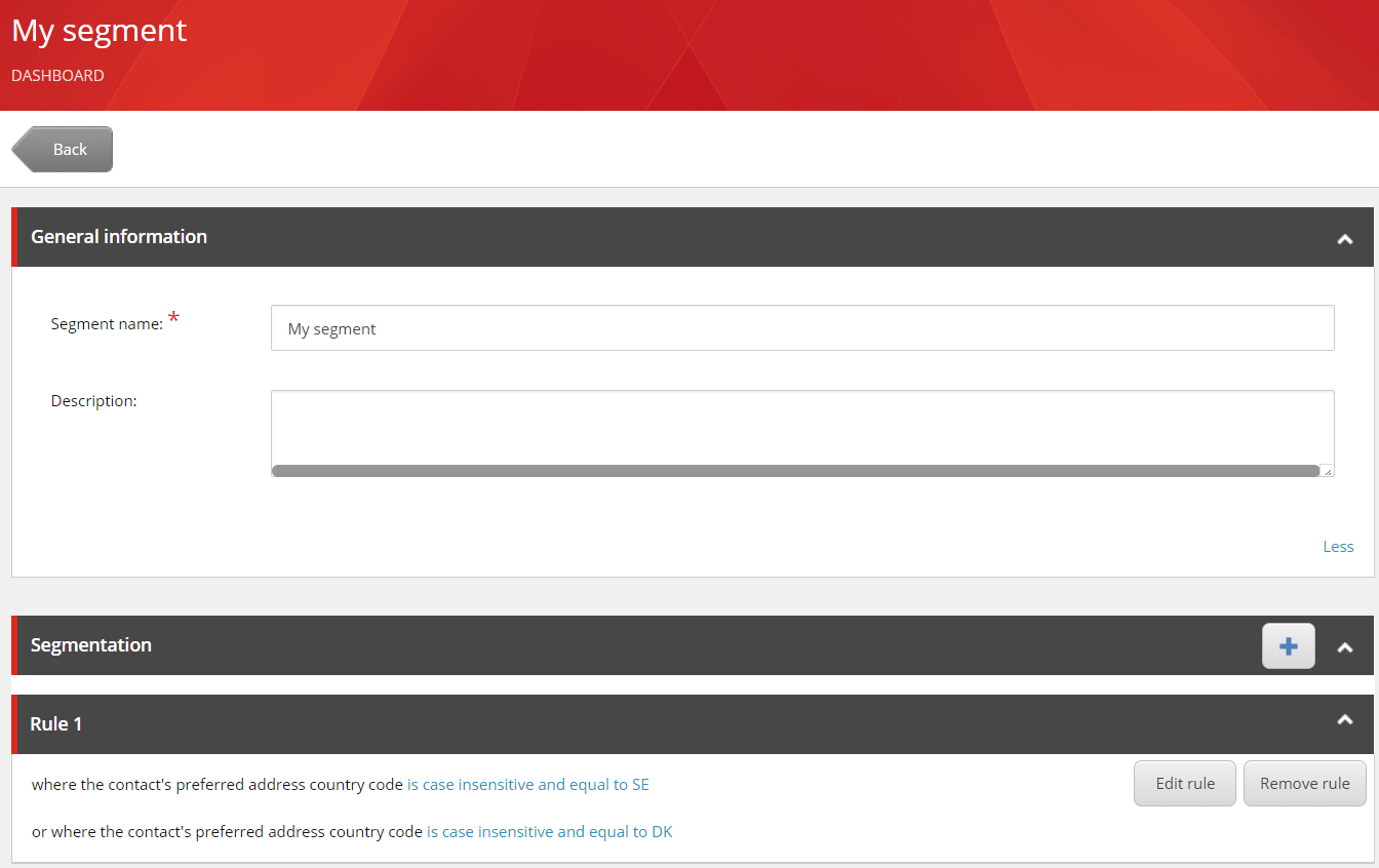 Segment creation cc Sitecore