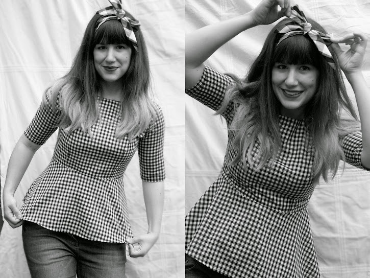 Make a Gingham Peplum