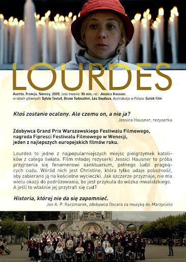 Tył ulotki filmu 'Lourdes'