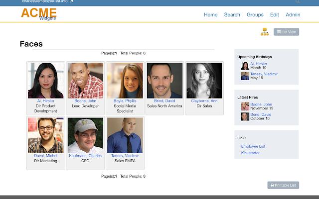 employee list g suite marketplace