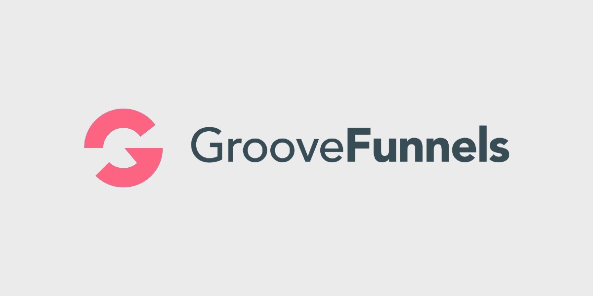Groovefunnels logo on a grey background photo