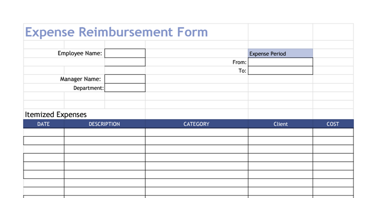 expense reimbursement form template google sheets. Black Bedroom Furniture Sets. Home Design Ideas