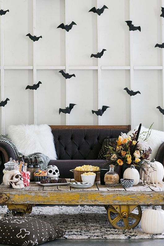 elegant halloween display