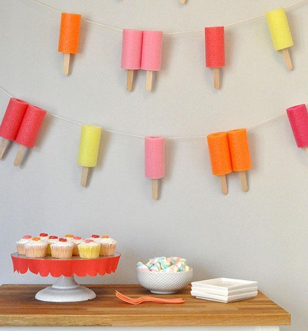 DIY Popsicle Stick Garland