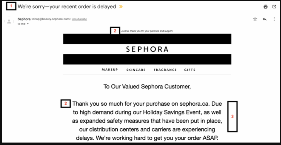 shipping delay email template 4