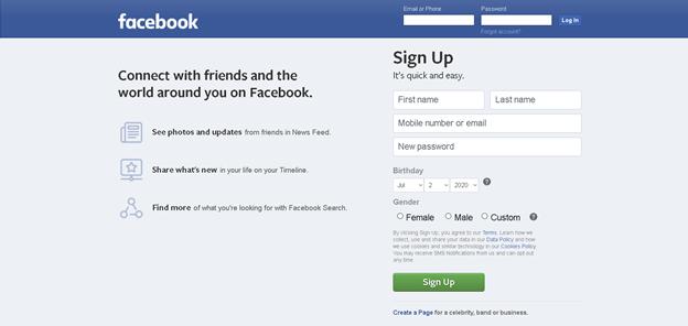 facebook organische social media werbung