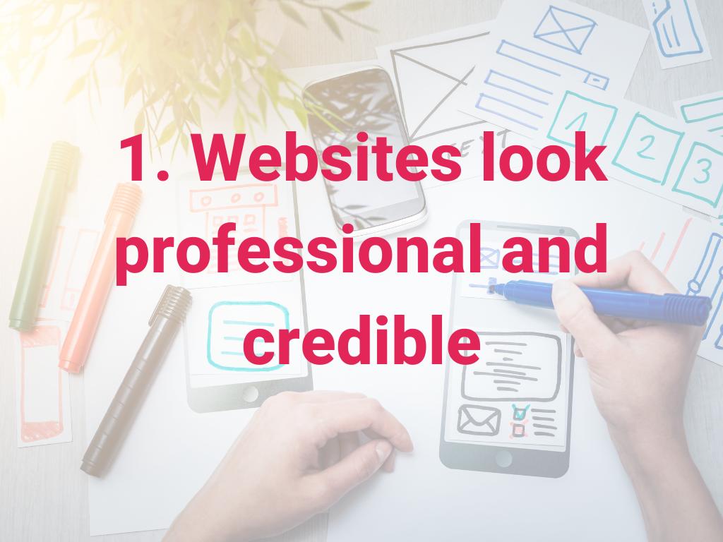 Websites zien er professioneel en geloofwaardig uit