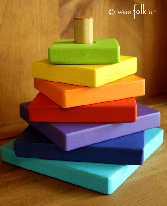 wooden toy stacker blocks, a craft that makes money