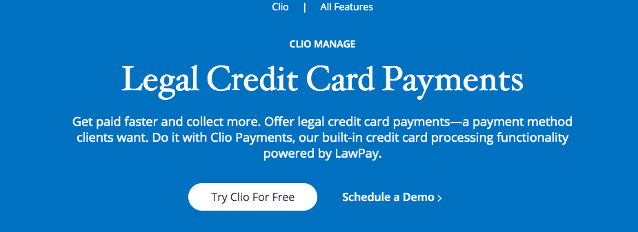 Legal Credit Card Payments with Clio