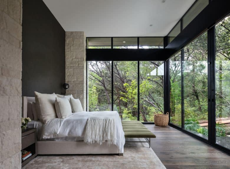 Create a Zen Vibe with a Huge Glass Wall