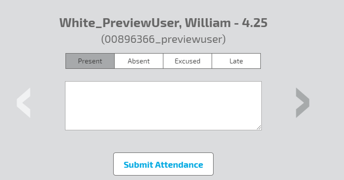 One By One Attendance View