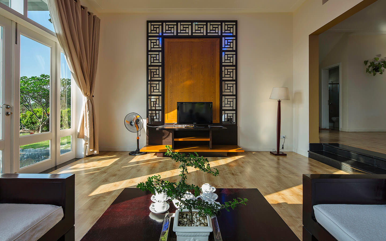 Phòng khách mang phong cách Á Đông