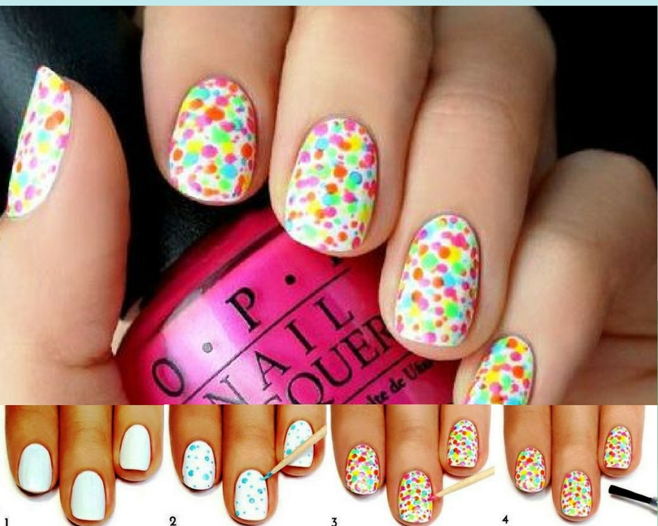 If You Want To Boost Your Mood Immediately Try Out This Nail Design It S So Bright And Funny That Ll Forget About Winter Depression For A Long Time