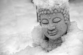 Image result for buddha image with snow