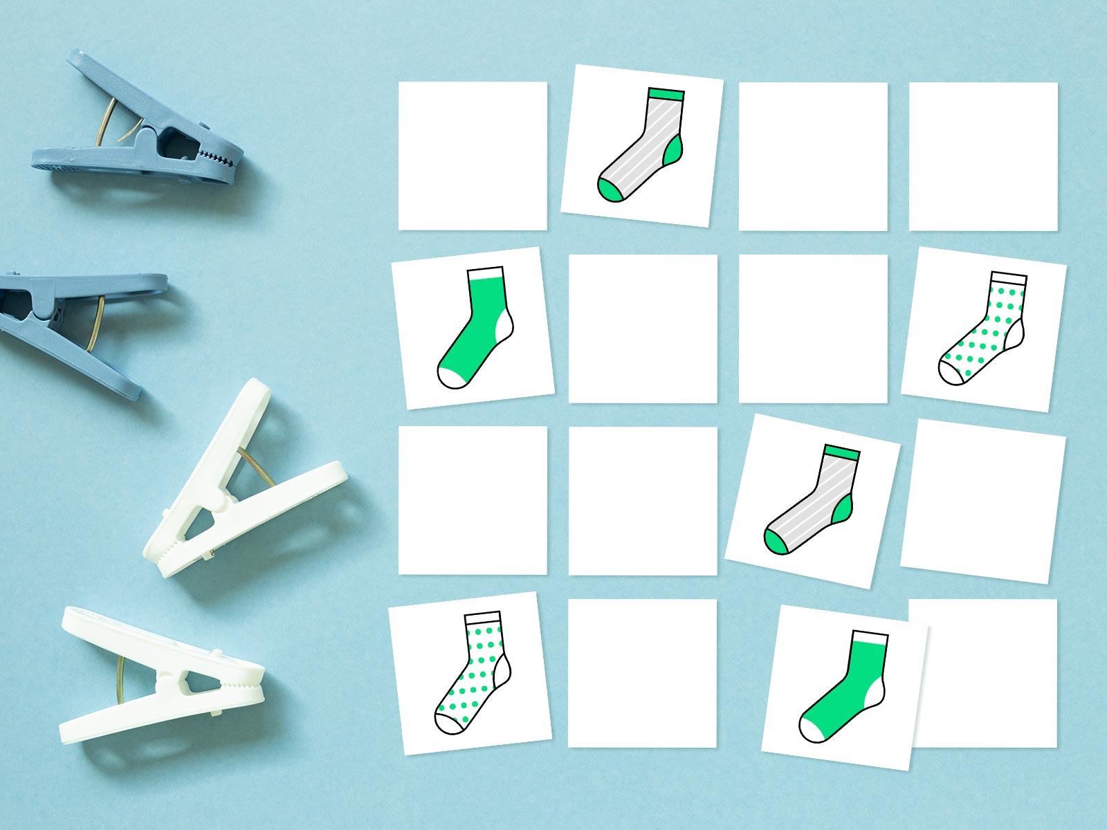 laundry for kids - sock matching game preview