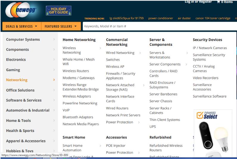 Example of a complicated navigation menu.