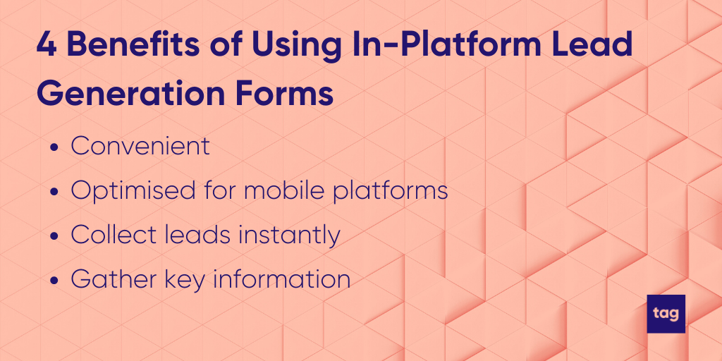 Four benefits of using in-platform lead generation forms for event marketing