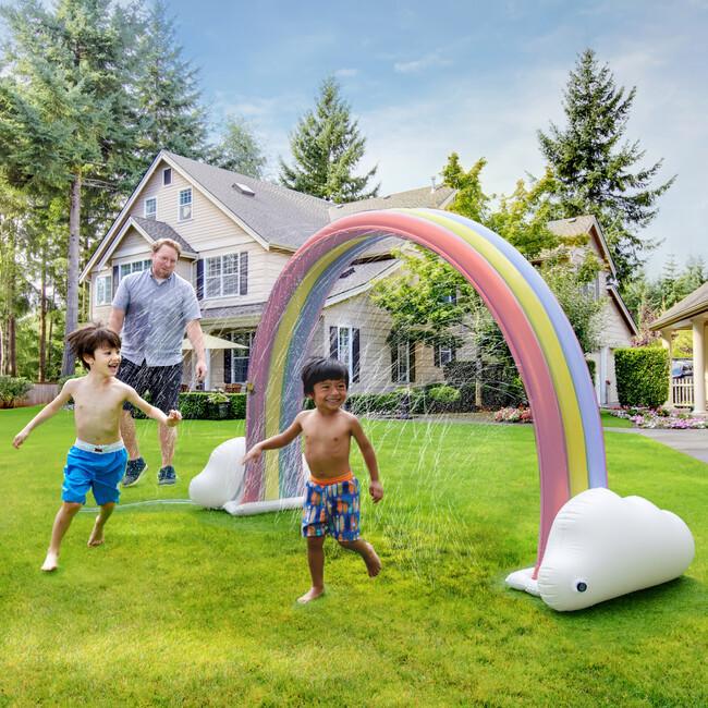 water play rainbow sprinkler