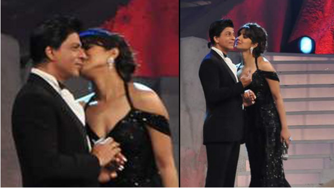 Oops, kissing King Khan.