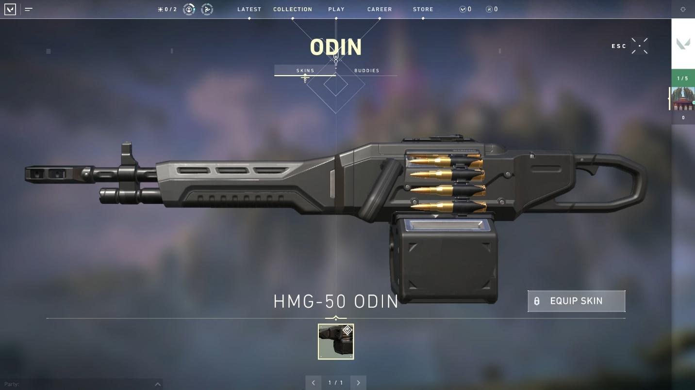 Odin heavy machine gun top weapons in valorant