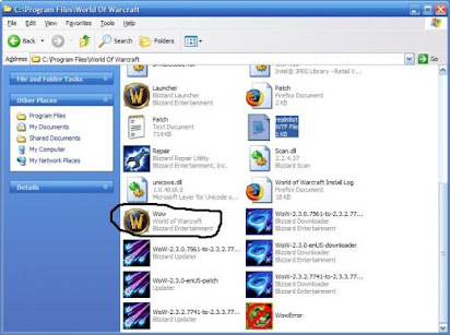 World of warcraft wow exe file