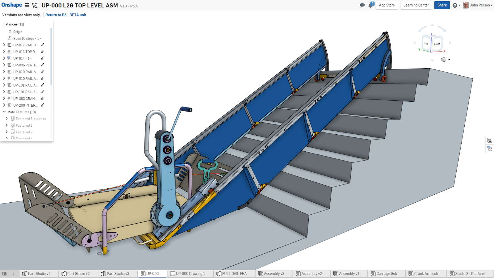 To design the Lift2Go, Adaptive Concepts chose Onshape, the only cloud product development platform that combines CAD, release management, real-time collaboration tools and business analytics.