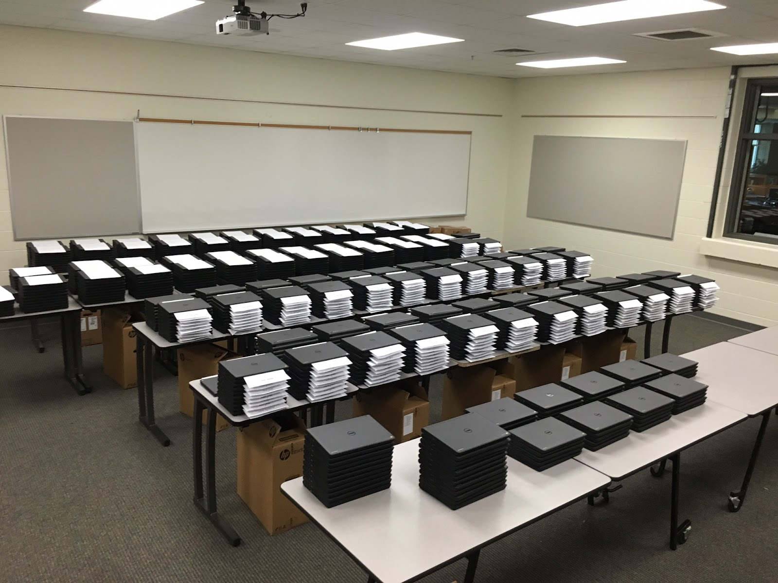 1,050 Chromebooks waiting for distribution