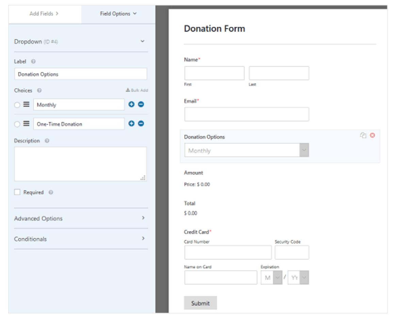 configure wpforms on WordPress