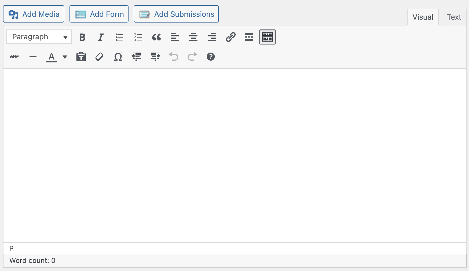 Wordpress後台編輯界面