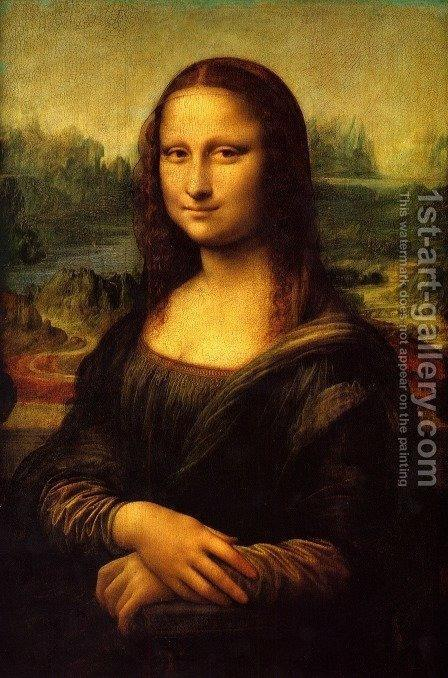 Mona Lisa (La Gioconda) c. 1503-05 by Leonardo Da Vinci - Reproduction Oil Painting