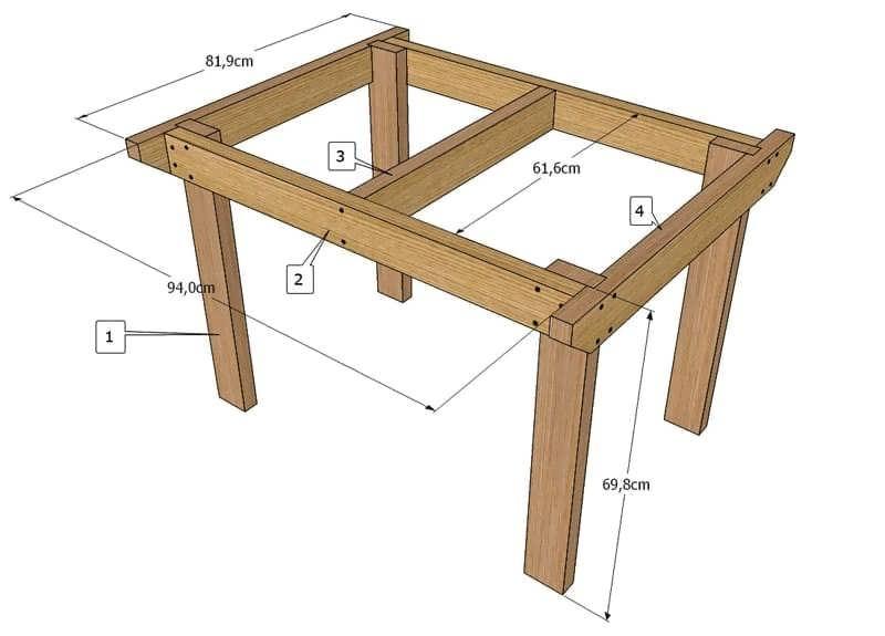 Простой маленький стол своими руками
