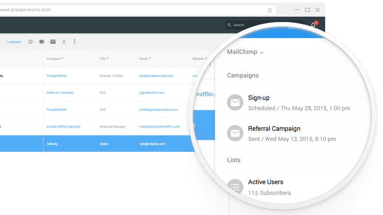 automate emails with Copper crm