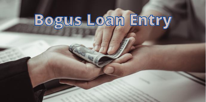 Bogus loan entry