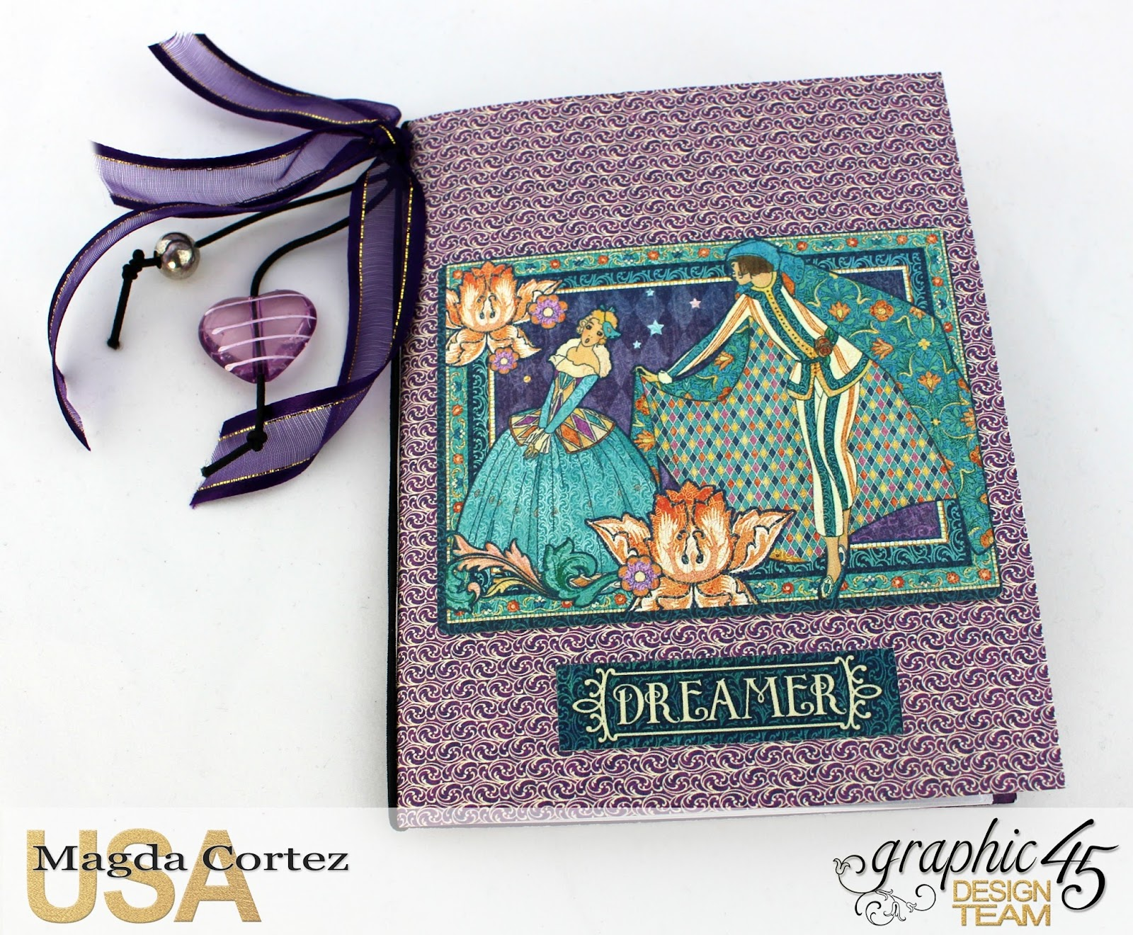 60 Second Tutorial Mini Notebooks, Midnight Masquerade, By Magda Cortez, Product by Graphic 45, Photo 03 of 07, with Tutorial.jpg