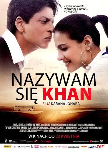 Przód ulotki filmu 'Nazywam Się Khan'