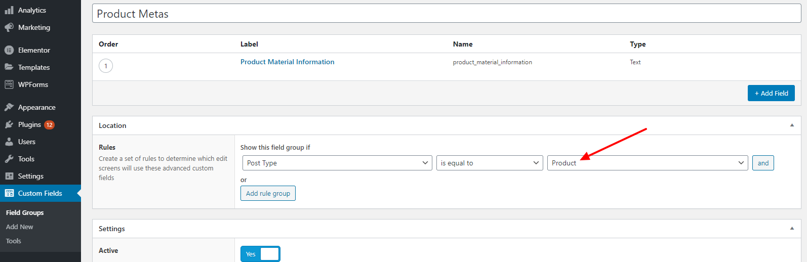 add ACF Filed value into feed step 2