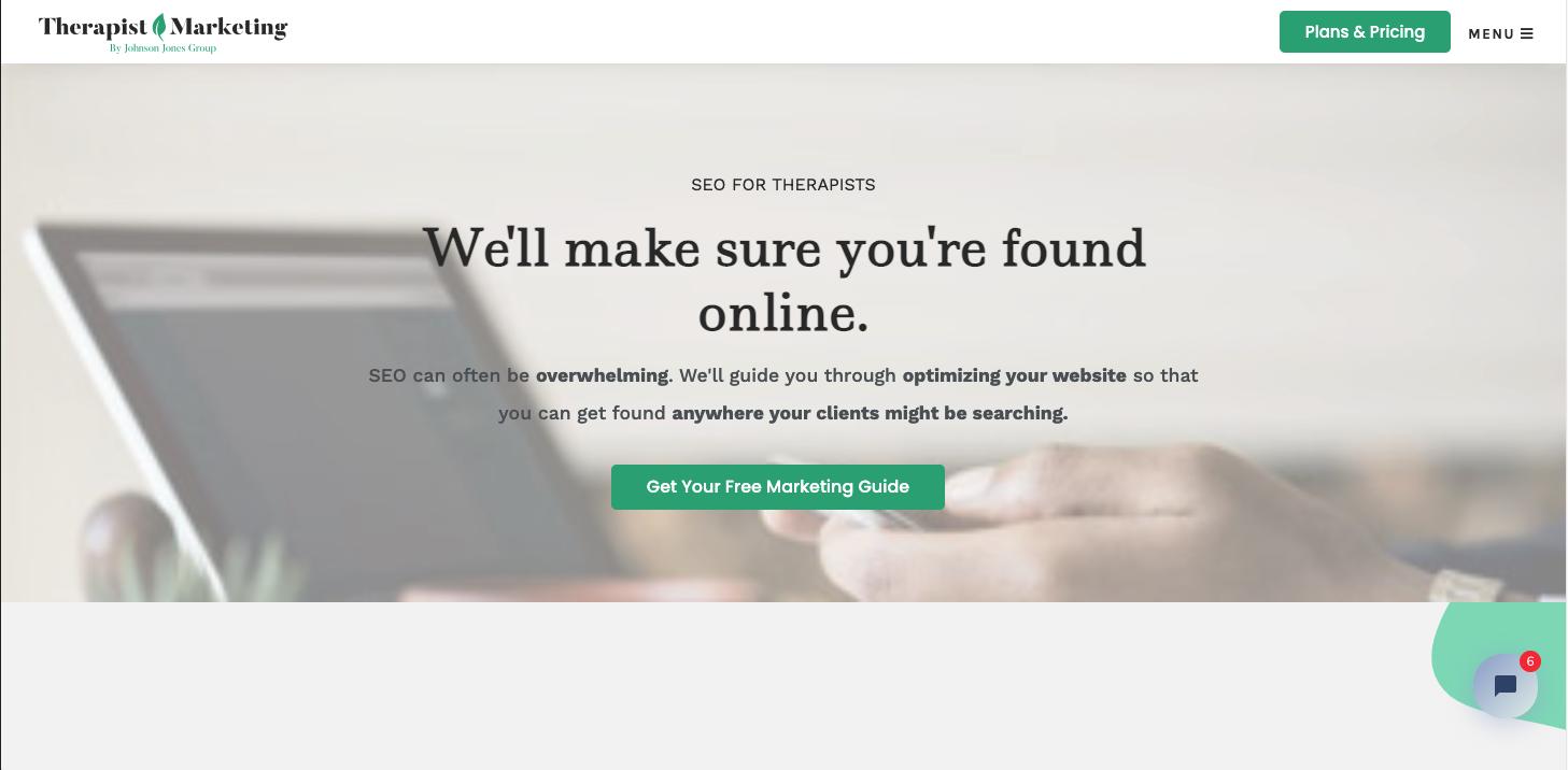 Johnson Jones Group Therapist Marketing Page