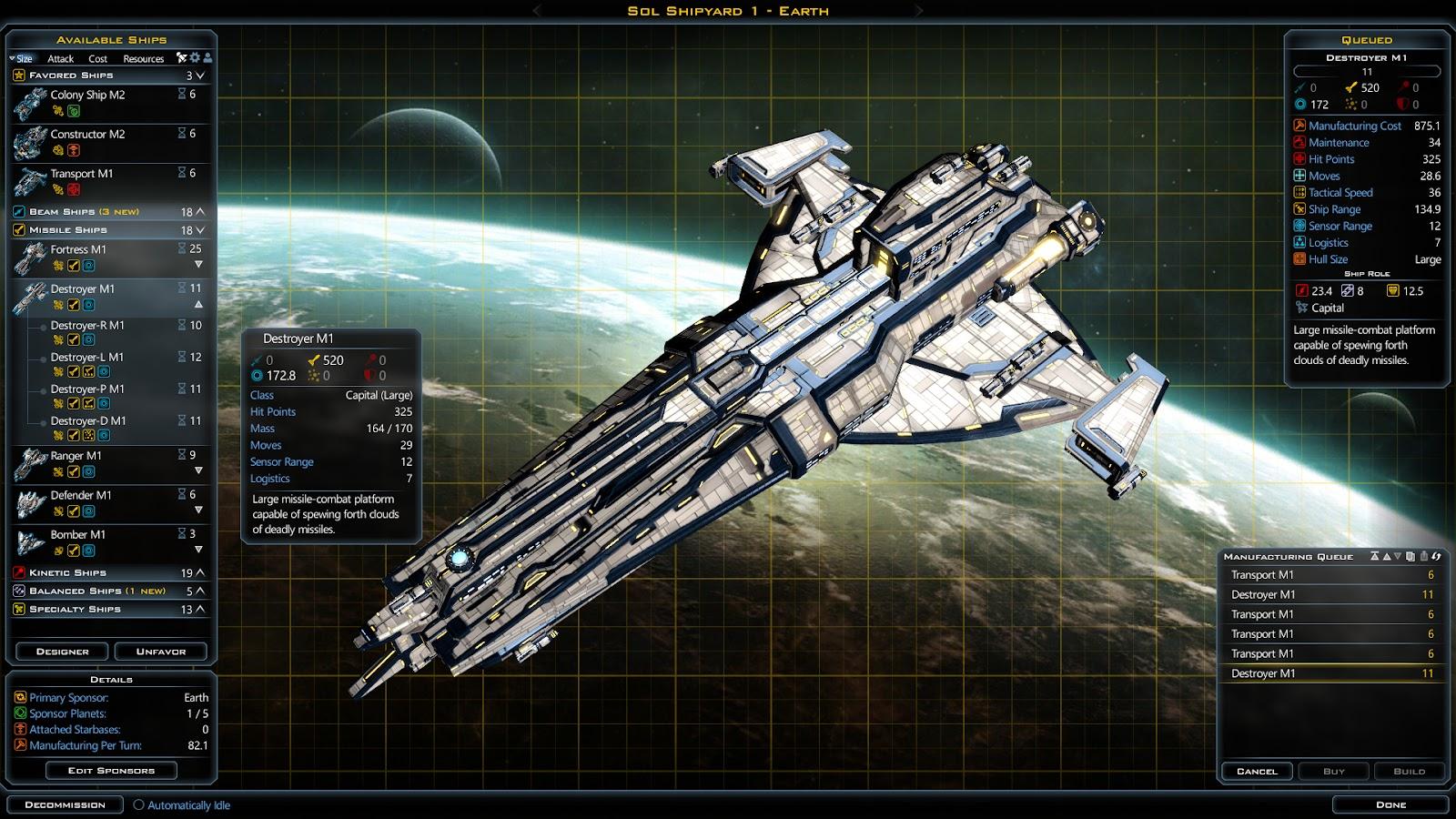 Galactic Civilizations  Building List